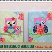 harga Hiasan Dinding - Wall Decor Owl Flowery Series Tokopedia.com