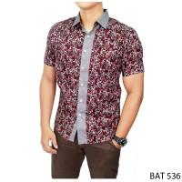Harga model baju batik untuk pria katun kombinasi warna bat | antitipu.com