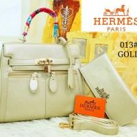 Sale Tas Wanita Hermes Kelly Ashanty #031#Gold