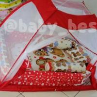 Jual 1 set kasur bayi tenda, kasur bayi kelambu,bantal guling Murah