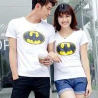 harga kaos couple batman putih Tokopedia.com