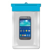 Zoe Waterproof Bag Case For Samsung I8530 Galaxy Beam - Biru