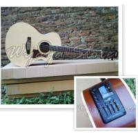 Gitar Akustik elektrik natural aw5 cowboy taylor custom