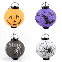 harga lampu lentera lampion halloween lantern 20cm dengan LED Tokopedia.com