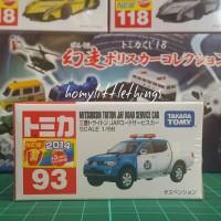 Tomica Reguler 93 : Mitsubishi Triton JAF Road Service Car 4WD Truck