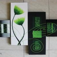Ornamen Minimalis - Green Flower
