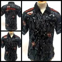 harga Kemeja Batik Black Motif Harley Davidson Tokopedia.com