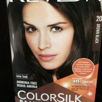 Revlon Cat Rambut Color Silk No.20 Brown Black