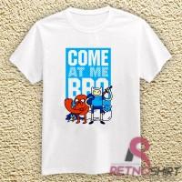 Kaos Distro, Kaos Oblong - Adventure Time Funny Come at me Bro quotes