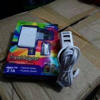 Charger Samsung 2.1 A bisa cas 3 hp pengisian cepat