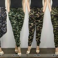 celana jogger/joger pants motip loreng army ukuran besar/jumbo xxl