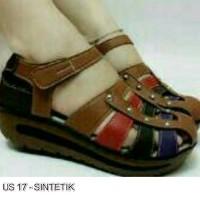 harga Sepatu Sendal Wanita Wedges Sintetis / Boots Kets High Heels Tokopedia.com
