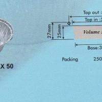 Aluminium Tray - Round Base RX 50 (60x37) Per 100 pieces