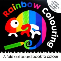 Rainbow Colouring - A fold-out board book to colour with bumpy line