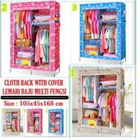 harga Cloth Rack With Dusk Cover Rak Baju Multi Fungsi Lemari Kain Amazing Tokopedia.com