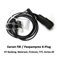 Earset FBI / Paspampres HT Baofeng, Wouxun, TYT, Weierwei, Firstcom