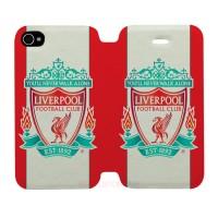 Liverpool Logo Iphone 4-4S Custom Flip Cover Case