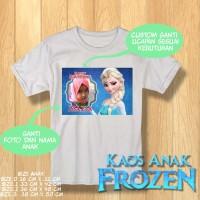 Kaos HobbiT Kids Frozen Custom Name dan Foto series Elsa