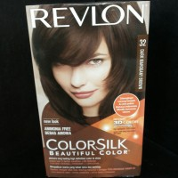 Revlon Cat Rambut Color Silk No. 32 Dark Mahogany Brown
