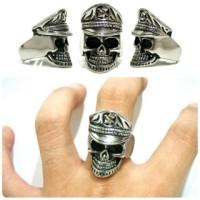 Skull ring ring Skull cincin tengkorak titanium police Skull
