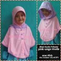 harga Jilbab Anak Hoodie Polkadot Pink Tokopedia.com