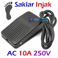Jual Saklar Injak Foot Pedal Switch 10A 250V AC Non Slip Heavy Duty Kaki Murah