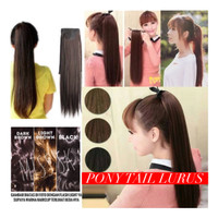Pony Tail LURUS Panjang / smoothing long hair ponitail / ponytail