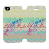 Vans Aztez Pattern Iphone 4-4S Custom Flip Cover Case