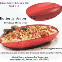 harga tupperware butterfly server activity promo murah diskon wadah sajian Tokopedia.com