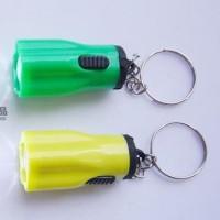 Gantungan Kunci Bentuk Senter dengan Lampu LED Mini