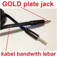 Kabel Aux audio 3.5mm samsung iphone ipod HTC Lenovo xiaomi LG Oppo HP