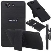 Armor Case Cover Casing With Belt Clip Pinggang Sony Xperia Z3 Compact