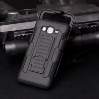 High Impact Armor Cover Casing Case + Belt Holster Samsung Galaxy E5
