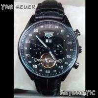 Jam Tangan Tag Heuer Automatic Mikrograph Leather Black