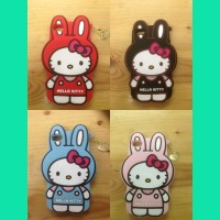 Sarung Silicone Case Gambar Hello Kitty Melody Apple iPhone 4