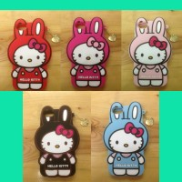 Sarung Silicone Case Gambar Hello Kitty Melody Apple iPhone 5