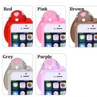 Casing Moschino Rabbit Kelinci HP Iphone 5 3D Case Sarung