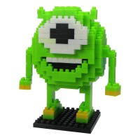 LDL 107 Lego Action Figure Nano Blocks Cartoon Series Mike Wazowski