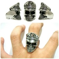 Cincin Tengkorak Unik Mirip Fourspeed Skull Ring