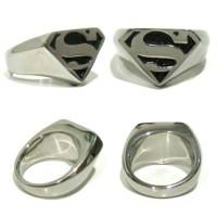 Cincin Superman Simbol Logo Superman Ring Titanium