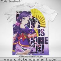 Kaos Anime Love Live Nozomi Tojo Full Graphic T-Shirt