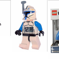 LEGO Plastic Alarm Clock Star Wars 9003936 Captain Rex Minifigure