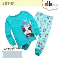 Baju Tidur Anak Perempuan : Jb7-b Piyama Jumping Bean Puppy Biru