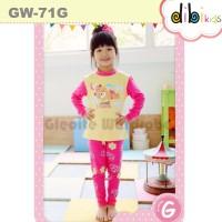 Piyama / Baju Tidur Anak Perempuan : GW-71G Teddy Bear Yellow Pink