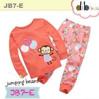 Baju Tidur Anak Perempuan : JB7-E Piyama Jumping Bean Cute Monkey