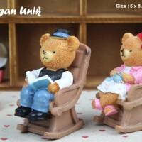 Pajangan Unik Lucu Sepasang Teddy Bear