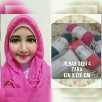jilbab segi empat 4 zara hijab shawl tepi rawis ombre