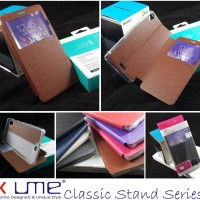 Ume Classic Leather Flip Book Cover Casing Case Infinix Hot Note X551