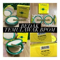 Bedak Temulawak BPOM v natural ( two way cake)