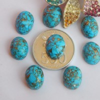 harga P6750 Batu Pirus Serat Emas / Natural Turquoise Tokopedia.com
